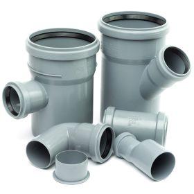 PVC anyagok (csövek, idomok)