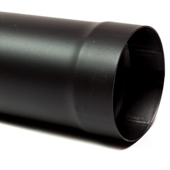 130 kandallócső fekete vastagfalú (1m)