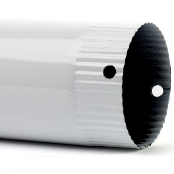 105 füstcső fehér zománcozott (40cm)