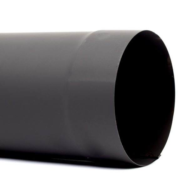 120 füstcső fekete (80cm)