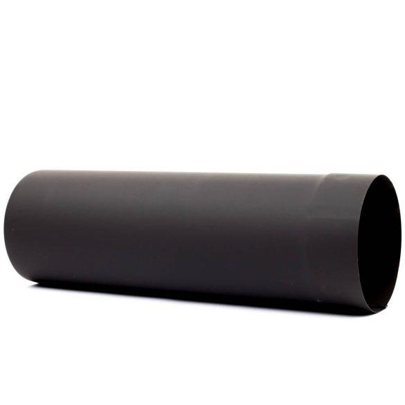 150 füstcső fekete (40cm)