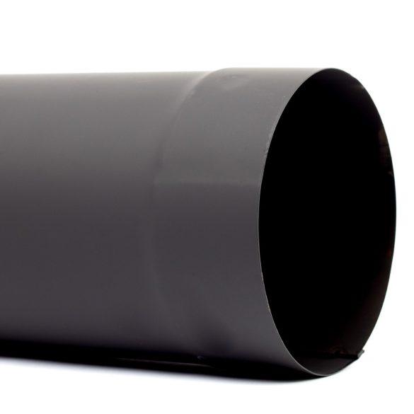 150 füstcső fekete (80cm)