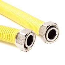 """1/2""""-1/2"""" 75cm-150cm nyújtható flexibilis gáz bekötőcső BB"""