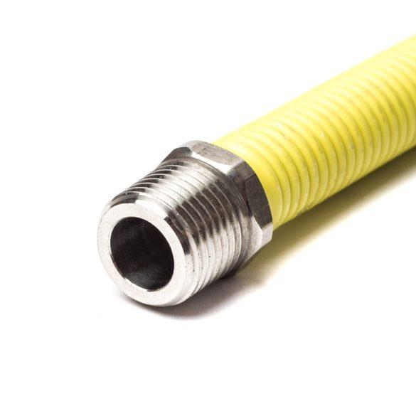 """1/2""""-1/2"""" 50cm-100cm nyújtható flexibilis gáz bekötőcső KB"""