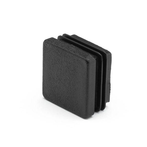 20*20mm záródugó zártszelvényhez műanyag fekete