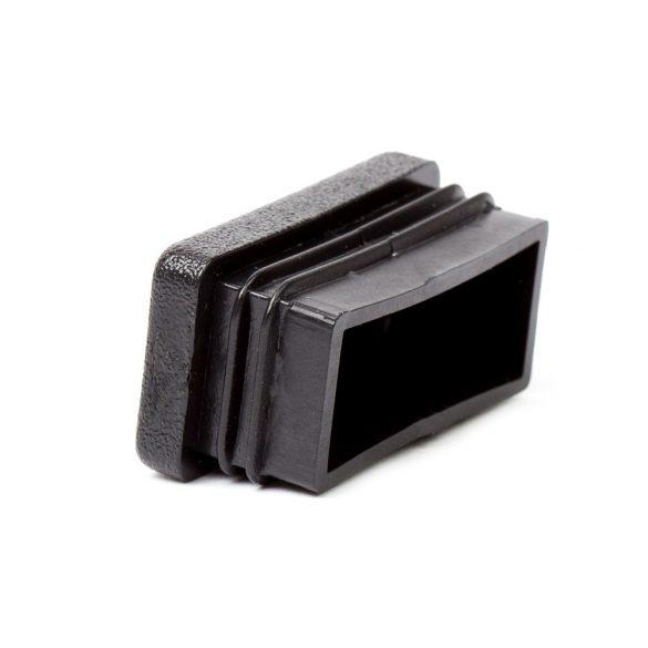 40*20mm záródugó zártszelvényhez műanyag fekete