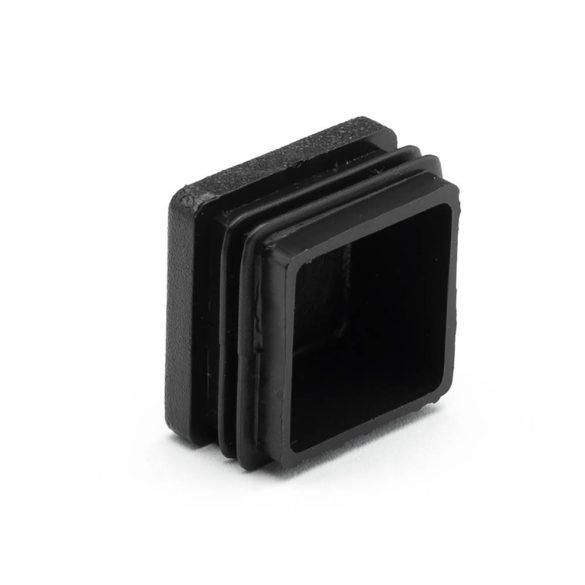 40*40mm záródugó zártszelvényhez műanyag fekete