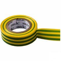 Szigetelőszalag 20m zöld-sárga
