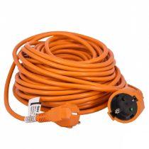 30m hálózati hosszabbító, narancs