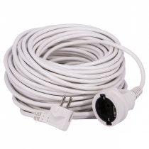 30m hálózati hosszabbító, fehér