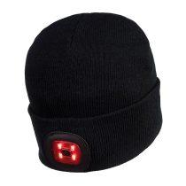 Sapka 2db újratölthető LED lámpával fekete